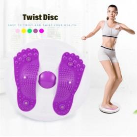 MTCC Alat Pijat Kaki Pelangsing Twist Disc Foot Acupuncture Sport Fitness Board - RP427 - Purple - 2
