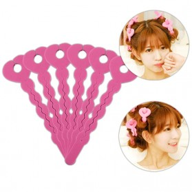 OLOEY Roller Rambut Curler Foam Hair Styling Tools 6PCS - WB40 - Pink