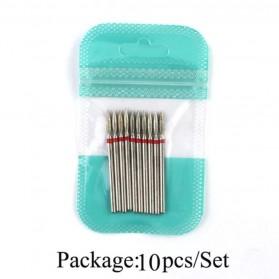 Mata Bits Manicure Pedicure Kikir Kuku Nail Drill 10PCS Model H8 - Silver