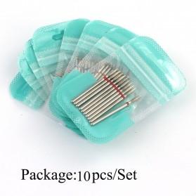Mata Bits Manicure Pedicure Kikir Kuku Nail Drill 10PCS Model H8 - Silver - 4