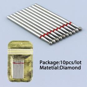 Mata Bits Manicure Pedicure Kikir Kuku Nail Drill 10PCS Model H8 - Silver - 6