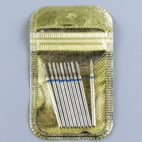 Mata Bits Manicure Pedicure Kikir Kuku Nail Drill 10PCS Model H24 - Silver