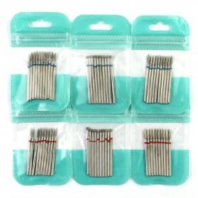 Mata Bits Manicure Pedicure Kikir Kuku Nail Drill 10PCS Model H24 - Silver - 2