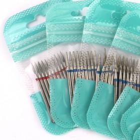 Mata Bits Manicure Pedicure Kikir Kuku Nail Drill 10PCS Model H24 - Silver - 3