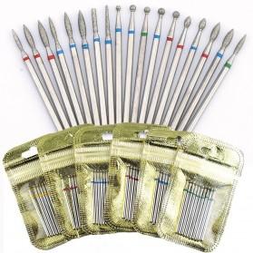 Mata Bits Manicure Pedicure Kikir Kuku Nail Drill 10PCS Model H24 - Silver - 4