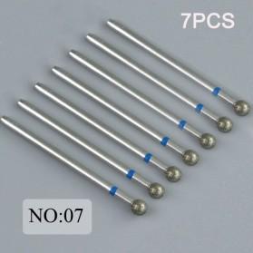 Mata Bits Manicure Pedicure Kikir Kuku Nail Drill 7PCS Model No.07 - Silver