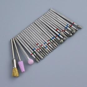 Mata Bits Manicure Pedicure Kikir Kuku Nail Drill 7PCS Model No.07 - Silver - 4