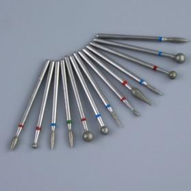 Mata Bits Manicure Pedicure Kikir Kuku Nail Drill 7PCS Model No.07 - Silver - 5