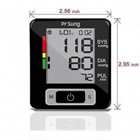 PRSUNG Pengukur Tekanan Darah Electronic Sphygmomanometer - PRS300 - Black - 8
