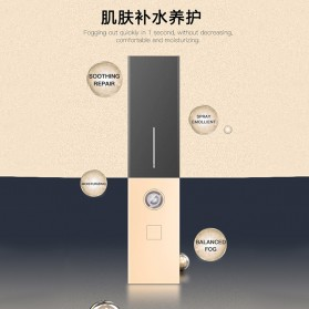 CkeyiN Pelembab Kulit Portable Mini Nano Spray Beauty Skin Lipstick Design - MR234 - Black Gold - 2