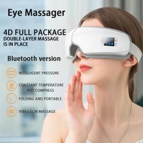 Mito Alat Pijat Kompres Mata Smart Airbag Vibration Eye Massager Bluetooth Music - JB-018 - White