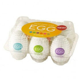 Tenga Pijat Tubuh Telur Pria Silicone Vacuum Penetration Egg 6PCS - EA911 - White