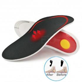 EiD Alas Kaki Sepatu Insole Gel Pad Shock Absorb Orthotic Arch Size L 40-46 - ZYD18 - Black