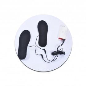 Amduine Alas Kaki Sepatu USB Heated Insole Gel Pad Warm Thermal Size 41-46 - WJ014 - Black - 7