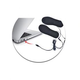 Amduine Alas Kaki Sepatu USB Heated Insole Gel Pad Warm Thermal Size 41-46 - WJ014 - Black - 8