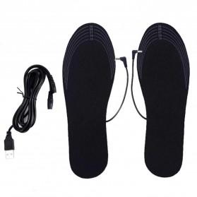 Amduine Alas Kaki Sepatu USB Heated Insole Gel Pad Warm Thermal Size 35-40 - WJ014 - Black - 2