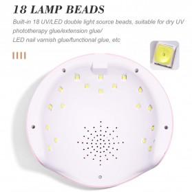 SUN Pengering Kutek Kuku UV LED Nail Dryer 54W - X12 - Pink - 5