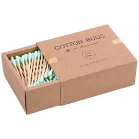 Biode Cotton Buds Bambu Pembersih Telinga Korek Kuping 200PCS - BD277 - Green