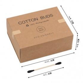 Biode Cotton Buds Bambu Pembersih Telinga Korek Kuping 200PCS - BD277 - Green - 7