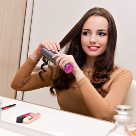 GLOMEVE Catok Pengkriting Rambut Portable Wireless Automatic Hair Curler - RD060B - Gray - 5