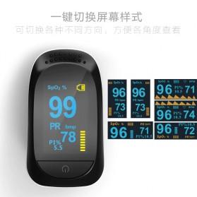 YGER Fingertip Pulse Oximeter Pengukur Detak Jantung Kadar Oksigen SpO2 - C101A2 - Black