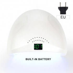 SUNUV SUN1 Pengering Kutek Kuku UV LED Nail Dryer 48W with Rechargeable Battery - White