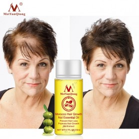 MeiYanQiong Serum Rambut Morocco Hair Growth Nut Essential Oil 20ml - 4