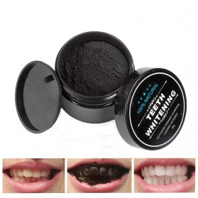 OSHIONER Pemutih Gigi Activated Charcoal Powder Teeth Whitening 30g - Black - 1