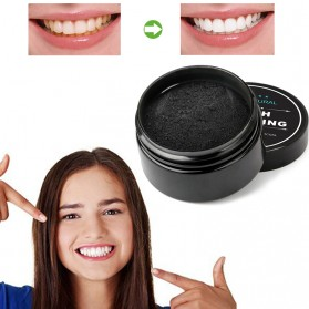 OSHIONER Pemutih Gigi Activated Charcoal Powder Teeth Whitening 30g - Black - 5