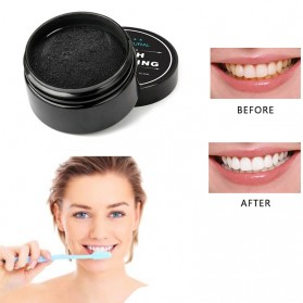 OSHIONER Pemutih Gigi Activated Charcoal Powder Teeth Whitening 30g - Black - 6