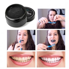 OSHIONER Pemutih Gigi Activated Charcoal Powder Teeth Whitening 30g - Black - 7