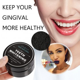 OSHIONER Pemutih Gigi Activated Charcoal Powder Teeth Whitening 30g - Black - 8