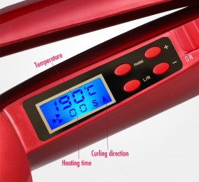 Balalisi Catok Rambut Keriting Curler Roller Iron Heating LCD Screen - H915 - Black - 5