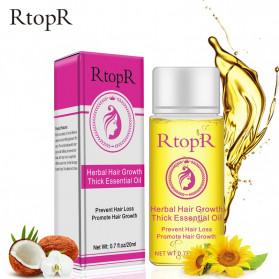 RtopR Essence Oil Penumbuh Rambut Herbal Hair Growth 20ml - REO20 - Yellow
