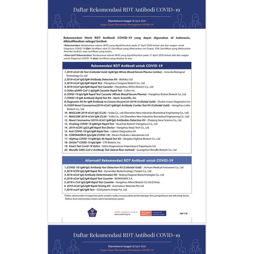 Wondfo Alat Cek Virus Corona Antibody Rapid Test Check Kit Covid 19 Sars Cov 2 20 Pcs W195 Approved By China Goverment Jakartanotebook Com