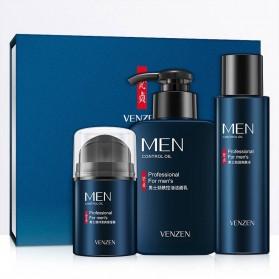 Venzen Men Refreshing Skin Care Set Cleanser Toner Cream 3 PCS - 6941