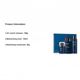 Venzen Men Refreshing Skin Care Set Cleanser Toner Cream 3 PCS - 6941 - 10