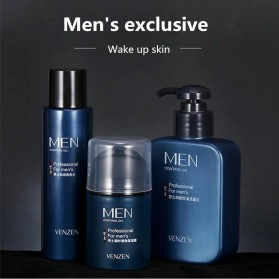 Venzen Men Refreshing Skin Care Set Cleanser Toner Cream 3 PCS - 6941 - 2