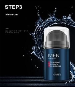 Venzen Men Refreshing Skin Care Set Cleanser Toner Cream 3 PCS - 6941 - 8