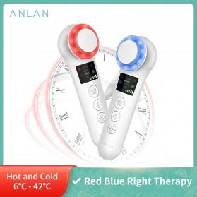 ANLAN BDRYJY-M02 Face Massager Alat Pijat Perawatan Kulit Wajah EMS Iontophoresis - ALDRY05Y-02 - White
