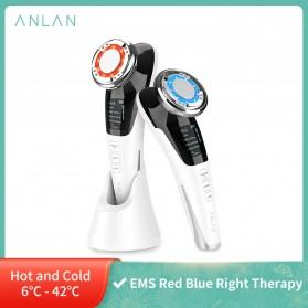 ANLAN DRY06 Face Massager Alat Pijat Perawatan Kulit Wajah EMS Vibration - ALDRY06J-02 - White
