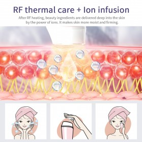 ANLAN KC-6100 Face Massager Alat Pijat Perawatan Kulit Wajah EMS RF- ALSPY01-04 - Pink - 8