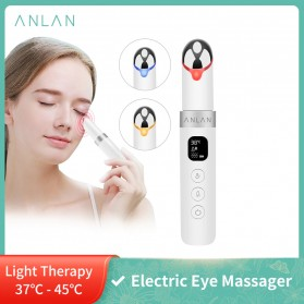 ANLAN MYY06-02 Alat Pijat Mata Electric Pen Eye Massager Anti Aging Rechargeable - ALMYY06-02 - White