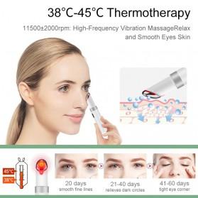 ANLAN MYY06-02 Alat Pijat Mata Electric Pen Eye Massager Anti Aging Rechargeable - ALMYY06-02 - White - 7