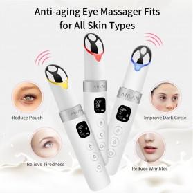 ANLAN MYY06-02 Alat Pijat Mata Electric Pen Eye Massager Anti Aging Rechargeable - ALMYY06-02 - White - 11
