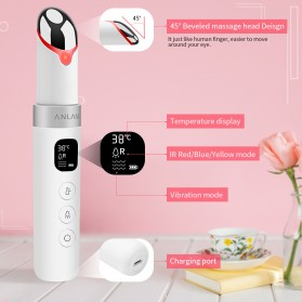 ANLAN MYY06-02 Alat Pijat Mata Electric Pen Eye Massager Anti Aging Rechargeable - ALMYY06-02 - White - 13