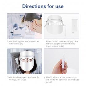 ANLAN DR.AELF-801 Masker Wajah LED Facial Mask Anti Wrinkle Whitening - ALMZ06-02 - White - 15