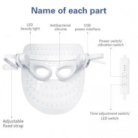 ANLAN DR.AELF-801 Masker Wajah LED Facial Mask Anti Wrinkle Whitening - ALMZ06-02 - White - 7