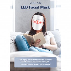 ANLAN DR.AELF-801 Masker Wajah LED Facial Mask Anti Wrinkle Whitening - ALMZ06-02 - White - 8