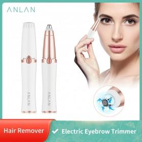 ANLAN Alat Pencukur Alis Electric Portable Eyebrow Shaver - ALXMB02-02 - White